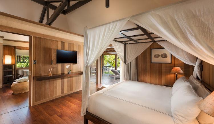 Conrad Bora Bora Garden villa bedroom