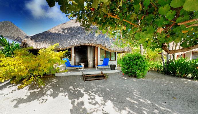 bungalow plage le meridien bora bora