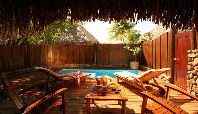 bungalow jardin avec piscine moorea pearl resort