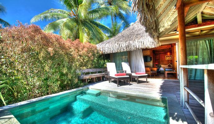 bungalow junior suite jardin avec piscine