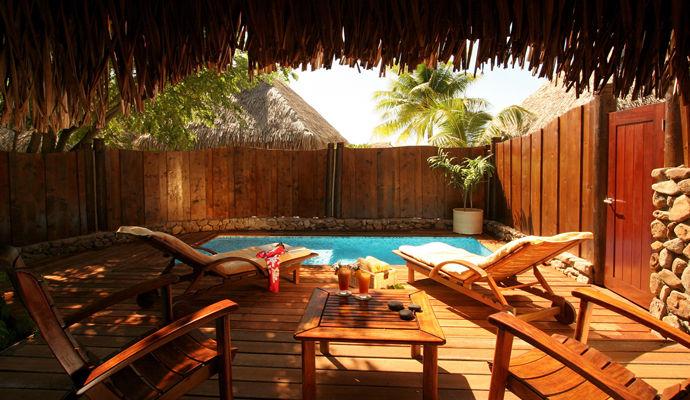 bungalow jardin avec piscine