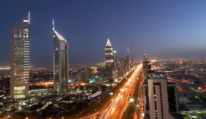 sheik zayed road night