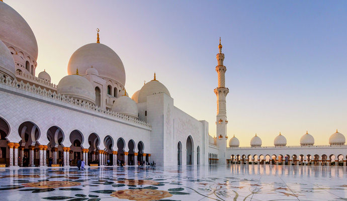 la grand mosquee Sheikh Zayed a Abu Dhabi