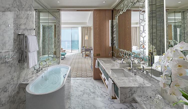premier suite vue mer salle de bain
