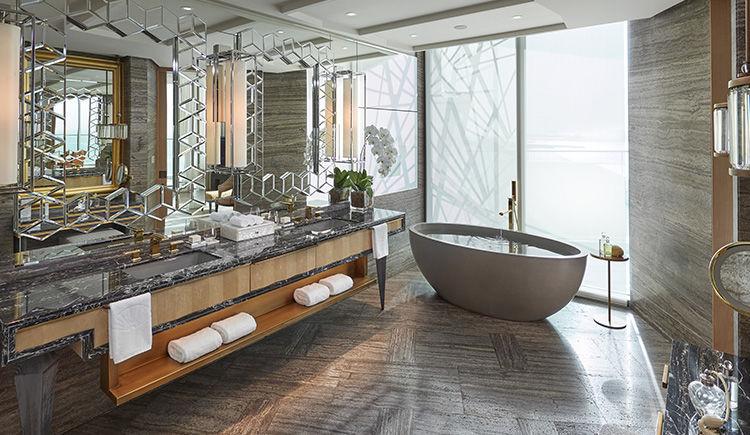 suite Mandarin face a la mer salle de bain