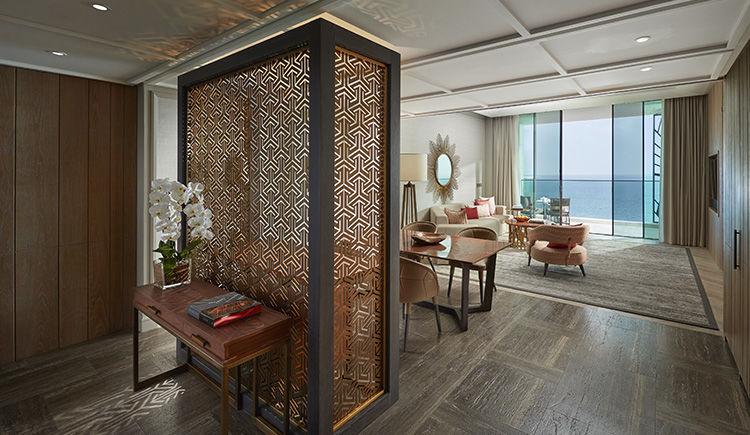 two bedroom suite vue mer salon