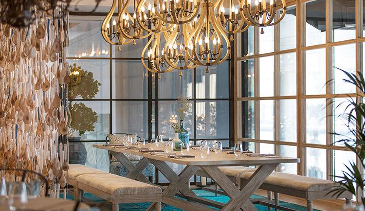 restaurant Bleu Blanc diner privee