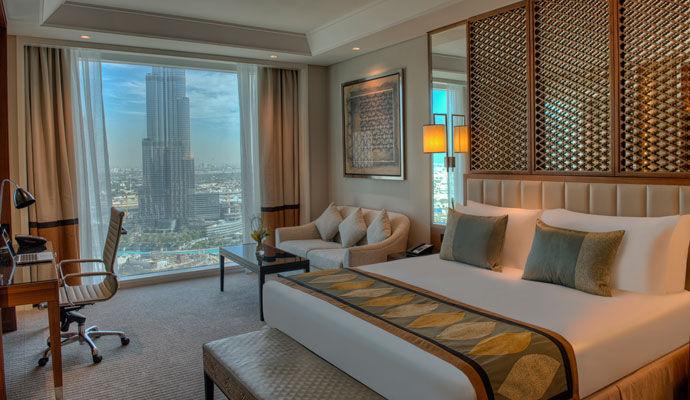 chambre luxury burj view