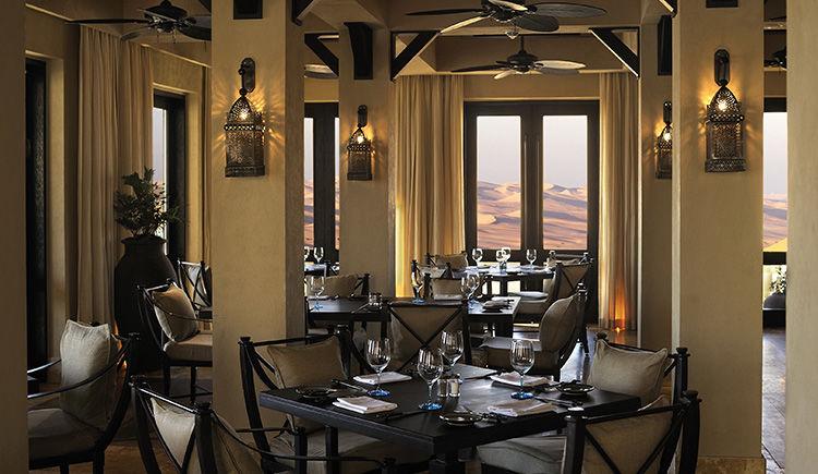 Qasr Al Sarab Desert Resort by Anantara restaurant Ghadeer
