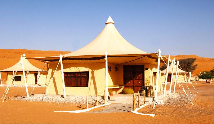 tente double desert night camp