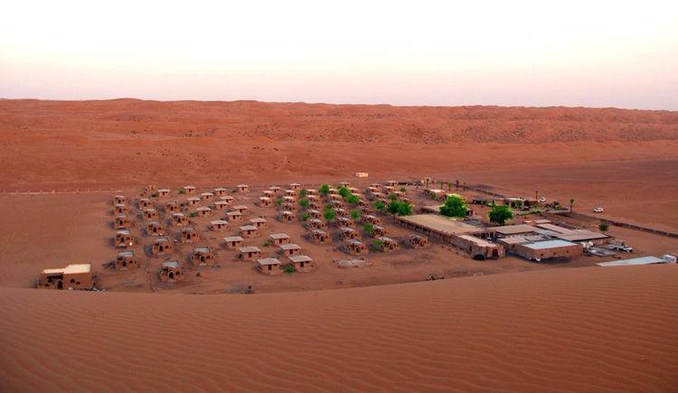 camp dans les sables de Whiba