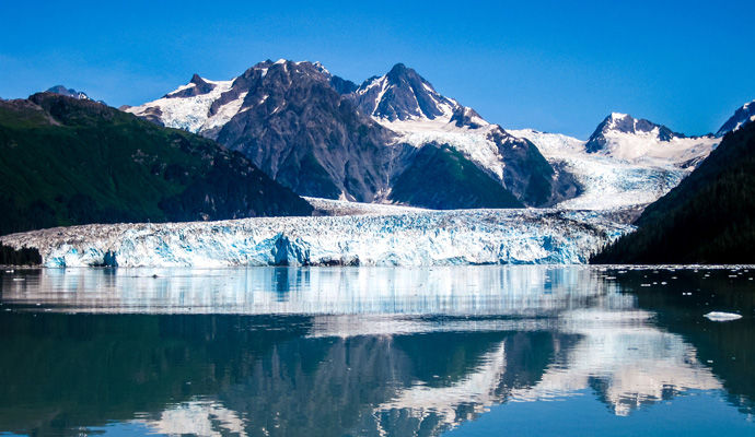 glacier Columbia dans le Prince William Sound