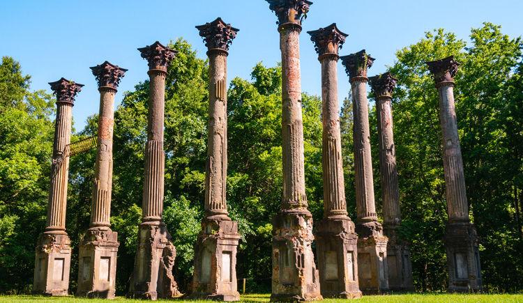 colonnade fantome de la plantation Windsor