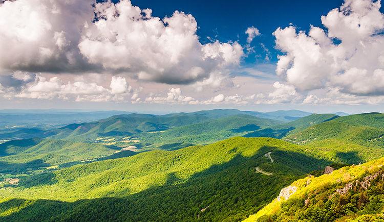 montagnes Blue Ridge Shenandoah