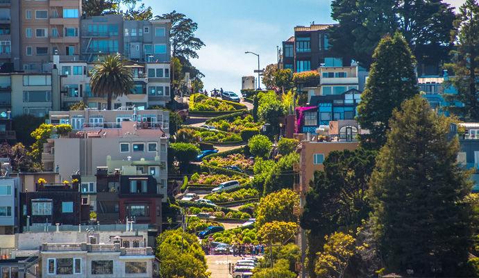 rue Lombard de San Francisco