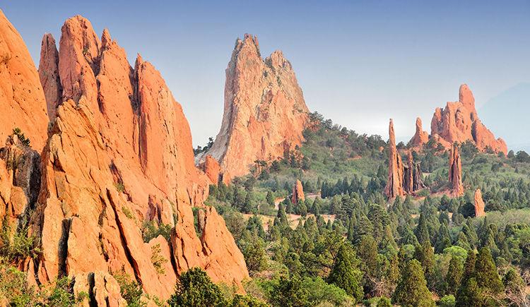 Colorado Springs parc Jardin des Dieux