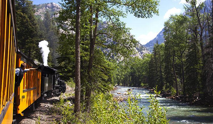 train a vapeur vers Silverton
